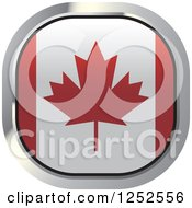 Clipart Of A Square Canadian Flag Icon Royalty Free Vector Illustration