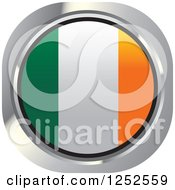 Clipart Of A Round Irish Flag Icon Royalty Free Vector Illustration