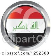 Clipart Of A Round Iraq Flag Icon 2 Royalty Free Vector Illustration