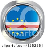 Clipart Of A Round Cape Verde Flag Icon Royalty Free Vector Illustration