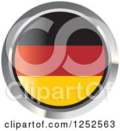 Clipart Of A Round German Flag Icon 2 Royalty Free Vector Illustration