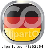 Clipart Of A Square German Flag Icon Royalty Free Vector Illustration