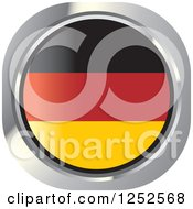 Clipart Of A Round German Flag Icon Royalty Free Vector Illustration