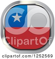 Clipart Of A Square Chilean Flag Icon Royalty Free Vector Illustration
