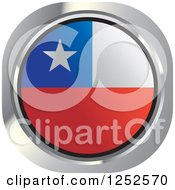 Clipart Of A Round Chilean Flag Icon Royalty Free Vector Illustration