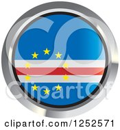 Clipart Of A Round Cape Verde Flag Icon 2 Royalty Free Vector Illustration