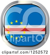 Clipart Of A Square Cape Verde Flag Icon Royalty Free Vector Illustration