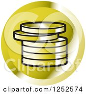 Clipart Of A Stack Of Gold Coins Icon Royalty Free Vector Illustration by Lal Perera