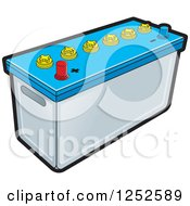 Clipart Of A Battery Royalty Free Vector Illustration by Lal Perera