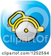 Clipart Of A Circular Saw Icon Royalty Free Vector Illustration