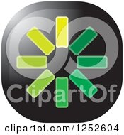 Clipart Of A Green Asterisk Icon Royalty Free Vector Illustration