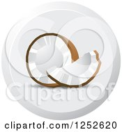Clipart Of A Round Coconut Icon Royalty Free Vector Illustration by Lal Perera