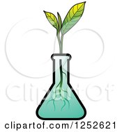 Clipart Of A Tea Plant In A Beaker Royalty Free Vector Illustration by Lal Perera