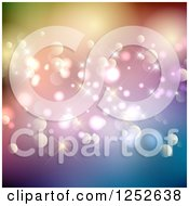 Clipart Of A Colorful Sparkly Background With Flares And Bokeh Royalty Free Vector Illustration