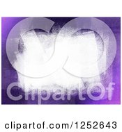 Clipart Of A Purple Background With White Paint Strokes Royalty Free Illustration