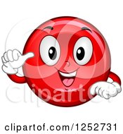 Happy Red Blood Cell Character