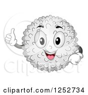 Clipart Of A Happy White Blood Cell Character Holding A Thumb Up Royalty Free Vector Illustration by BNP Design Studio