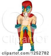 Mexican Luchador Wrestler Man Posing