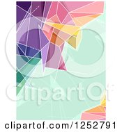 Clipart Of A Colorful Abstract Geometric Border With Green Text Space Royalty Free Vector Illustration