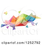 Clipart Of A Colorful Abstract Geometric Shape On White Royalty Free Vector Illustration by BNP Design Studio