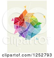 Clipart Of A Colorful Abstract Geometric Shape Royalty Free Vector Illustration by BNP Design Studio
