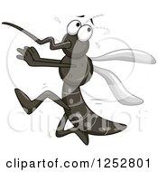 Scared Mosquito Running