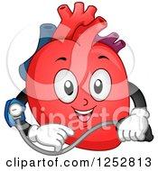 Happy Heart Organ Taking Its Blood Pressure