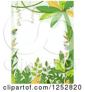 Clipart Of A Jungle Border Of Forest Plants Royalty Free Vector Illustration by BNP Design Studio