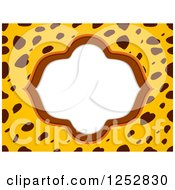 Clipart Of A Frame On A Cheetah Print Background Royalty Free Vector Illustration by BNP Design Studio