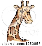 Clipart Of A Majestic Giraffe Royalty Free Vector Illustration