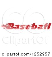 Clipart Of Flaming Red Baseball Text Royalty Free Vector Illustration