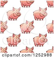 Clipart Of A Seamless Background Pattern Of Pigs Royalty Free Vector Illustration