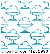 Clipart Of A Seamless Background Pattern Of Blue Ice Cream Sundaes Royalty Free Vector Illustration by Vector Tradition SM