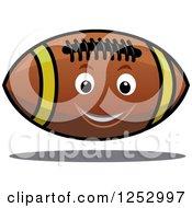 Cartoon Happy American Football Floating