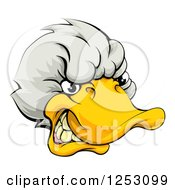 Snarling Duck Mascot Head