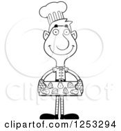 Clipart Of A Black And White Happy Man Christmas Elf Baking Cookies Royalty Free Vector Illustration by Cory Thoman