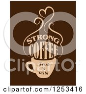 Clipart Of A Strong Coffee Fresh And Tasty Design Royalty Free Vector Illustration