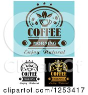 Clipart Of Coffee Morning Enjoy Natural Designs Royalty Free Vector Illustration
