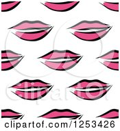 Clipart Of A Seamless Background Pattern Of Pink Feminine Lips Royalty Free Vector Illustration by Vector Tradition SM
