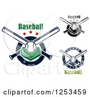 Clipart Of Baseballsplates And Crossed Bats With Text Royalty Free Vector Illustration