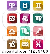 Clipart Of Colorful Astrology Star Sign Icons Royalty Free Vector Illustration