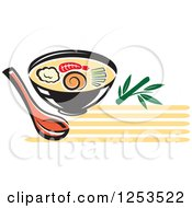 Clipart Of A Bowl Of Oriental Soup Royalty Free Vector Illustration