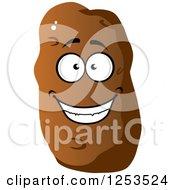 Clipart Of A Happy Potato Royalty Free Vector Illustration