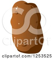Clipart Of A Potato Royalty Free Vector Illustration