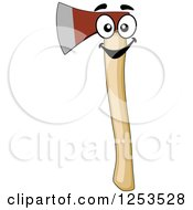 Clipart Of A Happy Axe Royalty Free Vector Illustration