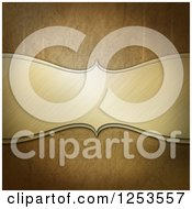 Clipart Of A 3d Ornate Brushed Metal Plaque On Gold Royalty Free Illustration by KJ Pargeter
