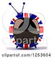 3d British Flag Retro Box Tv