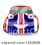 3d British Flag Porsche Car Character