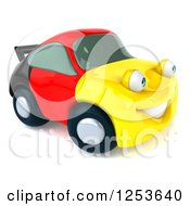 Clipart Of A 3d German Flag Porsche Car Character 2 Royalty Free Illustration