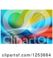 Clipart Of A Vibrant Colorful Fractal Background Royalty Free Illustration